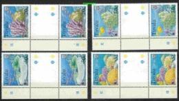 Greenpeace 1999 Tuvalu Corals 4v Gutter  (+margin)  ** Mnh (26798A) - Tuvalu