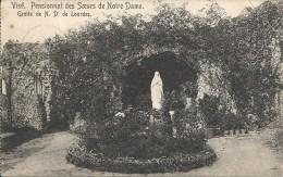 VISE : Pensionnat Soeurs Notre-Dame - Grotte ND De LOURDES -RARE CPA - Cachet De La Poste 1913 - Wezet