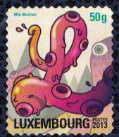 Luxembourg 2013 Utilisé Used Postocollants Série L En Forme De Poulpe Octopus Tentacles - Luxembourg