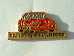 PIN´S RALLYE DES FLANDRES - Rallye