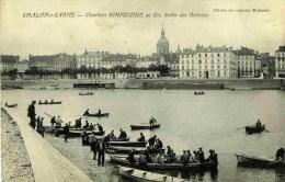 71-Chalon-sur-Saône- Chantiers   SCHNEIDER.,sortie Des Ouvriers ,en Barques - Chalon Sur Saone
