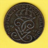SWEDEN   5 ORE 1947 (KM # 812) - Sweden