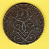 SWEDEN   5 ORE 1949 (KM # 812) - Sweden