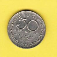 SRI LANKA   50 CENTS 1978 (KM # 135.1) - Sri Lanka
