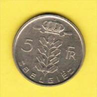 BELGIUM   5 FRANCS (DUTCH) 1974 (KM # 135.1) - 05. 5 Francs