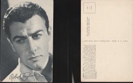 3468) ROBERT TAYLOR NON VIAGGIATA ATTORE ACTOR CINEMA ACTRESS DEAR FILM FORMATO PICCOLO AUTOGRAFO AUTOGRAPH A STAMPA - Attori