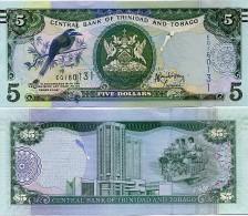 TRINIDAD & TOBAGO       5 Dollars       P-New      2006 (2013)     UNC [ Sign. Rambarran ] - Trinidad En Tobago