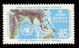 (118) Ceylon  1972  United Nations / Ecafe / Asia Map / Economy  ** / Mnh   Michel 424 - Sri Lanka (Ceylan) (1948-...)