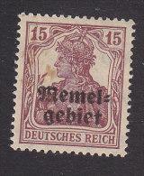 Memel, Scott #4, Mint Hinged, Germania Overprinted, Issued 1920 - Memel (1920-1924)