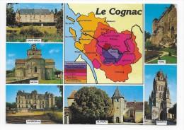 LE COGNAC DANS LES CHARENTES - CARTE DES CRUS - CPM GF NON VOYAGEE - Cognac