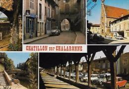 CPSM 01  CHATILLON SUR CHALARONNE (2 CV ) - Châtillon-sur-Chalaronne