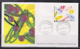 = Bernard Moninot Enveloppe 1er Jour Paris 29.3.97 N°3050 Oeuvre Originale - 1990-1999