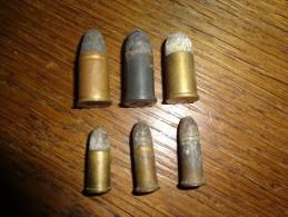 Lot 6 Cartouches Ancienne Poudre Noir Dont 3 Cartouches Cal.11mm 73 Cat.D2 Vente Libre - Decorative Weapons