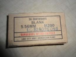 Boite De 20 Cartouches à Blanc US M200 Pour M16 POUR ENTRAINEMENT - Decorative Weapons
