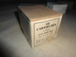 Boite De 25 Cartouches à Blanc 7,5x54 Mas MOD:1929 Balle Bois Dorée Pour Le CINEMA - Decorative Weapons
