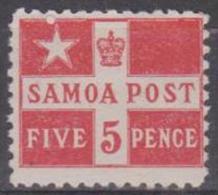 SAMOA - 1895 5d Flag. Perf 11. Scott 23a. Mint Hinged * - Samoa