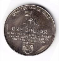 1971 British Columbia Festival Of Sports One Dollar Token - Canada