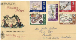 (628) FDC Cover - Bermuda - Antique Maps (1979) - Bermuda