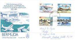 (628) FDC Cover - Bermuda - Aviation (1987) - Bermuda