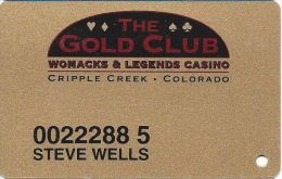 Womacks Casino Cripple Creek CO Slot Card - Casino Cards