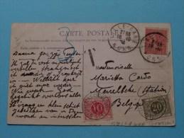 Ergens In AFRIKA Ou Expo (14) Identificier ( TAX Zegels Meirelbeke Station ) Anno 1904 ( Zie Foto´s Voor Details ) !! - Merelbeke
