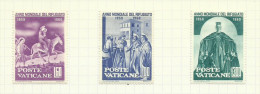 Vatican N°293 à 298 Neufs Avec Charnière* Cote 6.50 Euros - Unused Stamps