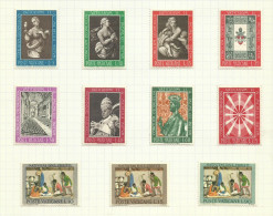 Vatican N°363 à 373 Neufs Avec Charnière* Cote 1.95 Euros - Neufs