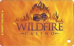 Wildfire Casino Las Vegas - @2003 Slot Card  (Blank) - Cartes De Casino