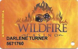Wildfire Casino Las Vegas - @2004 Slot Card - Casino Cards