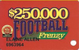 Football Frenzy Card - Fiesta, Wildfire, Barley´s, Wild Wild West, Gold Rush & Magic Star Casinos - Casino Cards