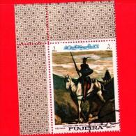 EMIRATI ARABI - FUJEIRA - Nuovo Oblit. - 1967 - Dipinto Di Honoré Daumier - Don Chisciotte - Don Quixote - 1 - Fujeira