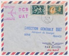 SENEGAL - Premiere Liaison Par Jetliner DC8 U.A.T. DAKAR PARIS - 10 Septembre 1960 - Poste Aérienne