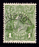 Australia 1931 King George V 1d Green C Of A Wmk Used   SG 125 DUBBO - 1913-36 George V: Heads
