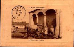 RABAT...UNE FONTAINE..CPA ANIMEE - Rabat