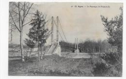 (RECTO/VERSO) AGEN EN 1905 - N° 83 - LE PASSAGE - LA PASSERELLE - BEAU CACHET - CPA - Agen