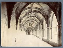 France, Cloître De L'Abbaye De Fontevraud Vintage Citrate Print.  Tirage Citrate  12X17  Circa 1895 - Sin Clasificación