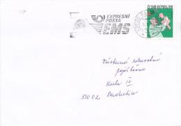 Czech Rep. / Stamps (1999) 0232: Czech Cartoons - Miroslav Bartak; (1999) 530 20 Pardubice 02: EMS ...; (K6004) - Berufe