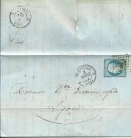 CARTA 1859 MARSEILLE A  LYON - Marcofilia (sobres)