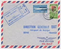 AFRIQUE DU SUD - Première Liaison Par Jetliner DC 8 UAT - JOHANNESBURG PARIS - 16 Septembre 1960 - Poste Aérienne