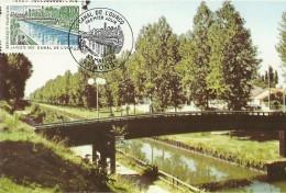 CARTE MAXIMUM - CARTE POSTALE 1er JOUR - 1992 - LE CANAL DE L´OURCQ - TAMPON BONDY - Cartas Máxima