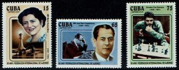 "Schach Chess Ajedrez échecs - Kuba Cuba 2004 - 80 Jahre Internationaler Schachverband (FIDE) Capablanca,  ""Che"" Guevara - Schach"