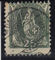 Deux (2) Helvetie Debout N° 67 Avec Jolies Variétés - Used Stamps