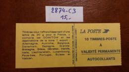 Carnet N° 2874-C3 Avec Oblitèration Cachet à Date De 1995  TTB - Definitives