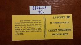 Carnet N° 2874-C2 Avec Oblitèration Cachet à Date De 1995  TTB - Carnets