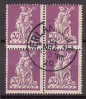 Bayern , 1920 , Mi.Nr. 181 I O / Used 4er - Bayern