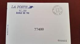75 Villecours Centre De Tri 12/6/2000 école De Tri De Meaux Centre De Tri Code Différent Selon L'enveloppe Achetée - Marcofilie (Brieven)