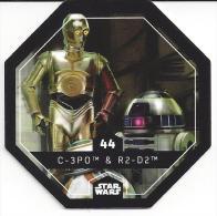 STAR WARS - Jeton Leclerc Cosmic Shells N° 44 - C-3PO & R2 - D2 - Autres Collections