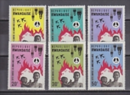 Rwanda 1966 Lutte Contre Les Armes Nucléaires 6v ** Mnh (26806C) - 1962-69: Ongebruikt