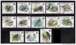 Zil Elwagne Sesel Seycelles     50-65 Used VF Birds  CV 35.55 - Seychelles (1976-...)