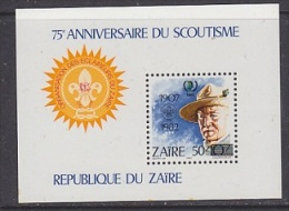 Zaire 1985 Scouting / International Youth Year M/s Ovptd ** Mnh (26808) - Zaïre